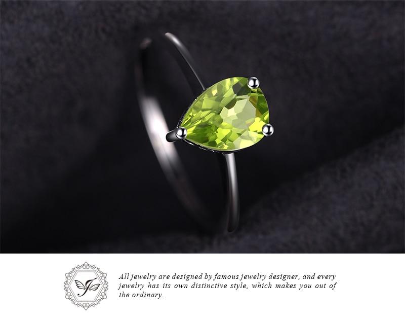 JE Genuine Amethyst Citrine Peridot Garnet Topaz Ring Solitaire 925 Sterling Silver Rings for Women Silver 925 Gemstones Jewelry
