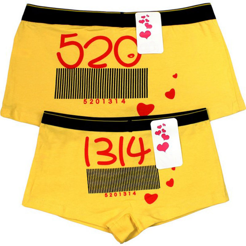 713b61e152 2018 Hot 1 Set Cotton Couple Underwear Panties Shorts for Men and Women  Cartoon Lovers Underwear Men Couple Knickers Cuecas
