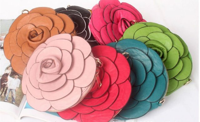 Lady's Fashion Camellia Flower Rose Shaped