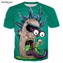 Cartoon Rick and Morty Funny 3D Print T-shirt Men/women Hip Hop Streetwear T shirt Youth Boys Hipster Tshirt Clothes Oversized цена