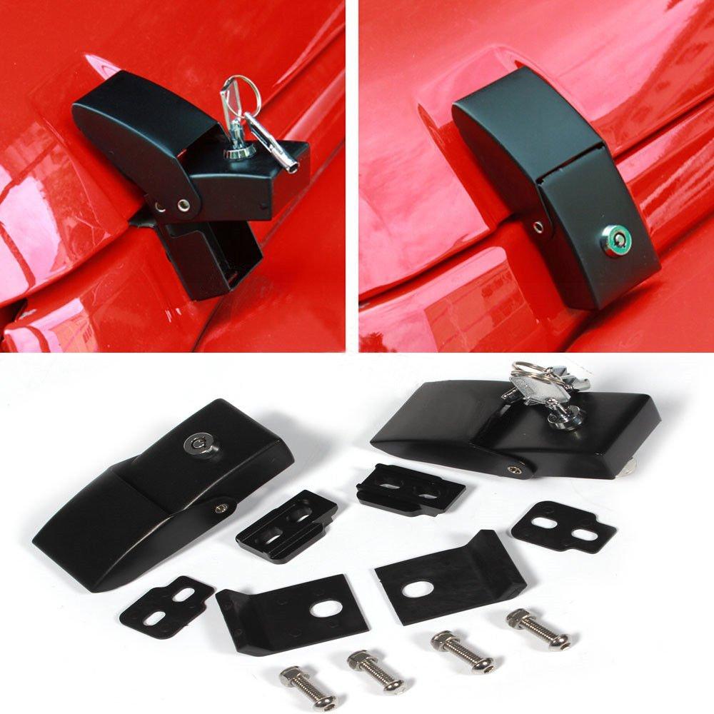 Hood Lock Bonnet Locking Catch Latch Buckle Kit For 2007-2017 Jeep Wrangler JK
