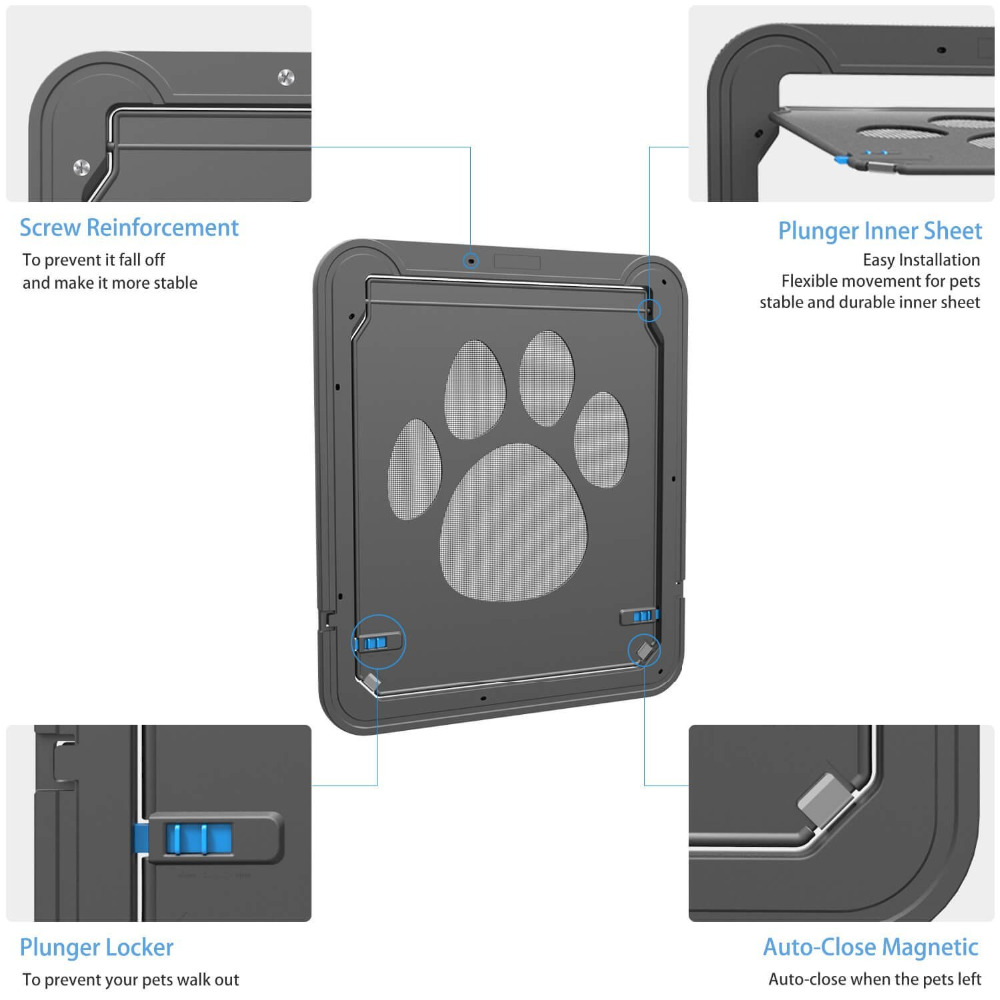 Magnetic Dog Door Screen Doorlarge Inner Size 12 X 14 Pet Screen
