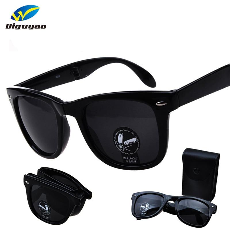 New Anti-reflection UV400 Fold Rivet Sunglasses Men Women outdoor Sun Glasses Lady Eyewear Contains a box oculos de sol Солнцезащитные очки