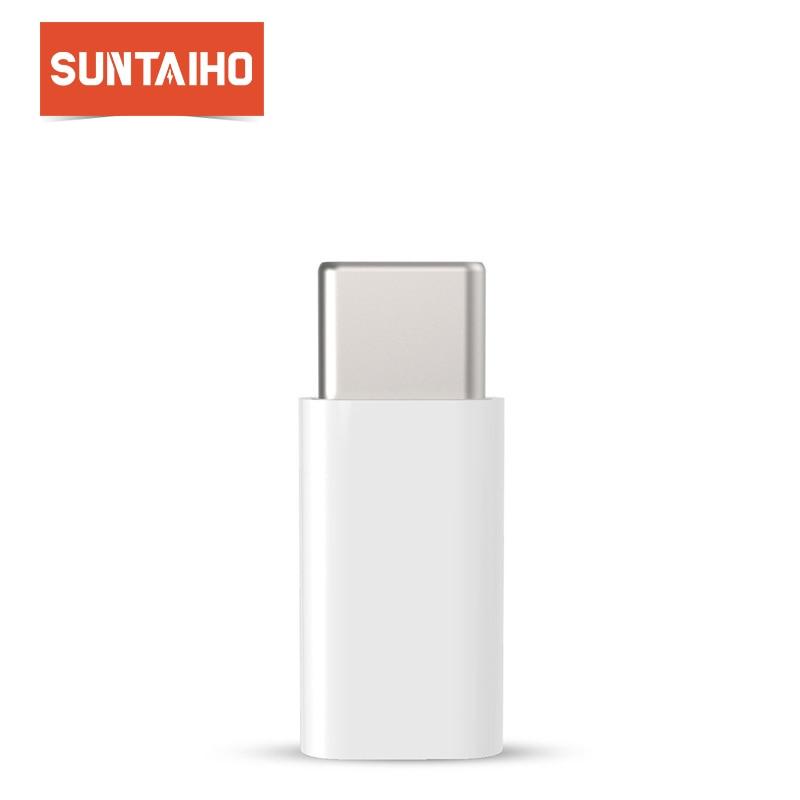 Micro USB Adapter to Type C for Xiaomi Macbook LG, Suntaiho USB C Adapter Converter Type C 3.1 Adapter for Nexus 5x Oneplus 5