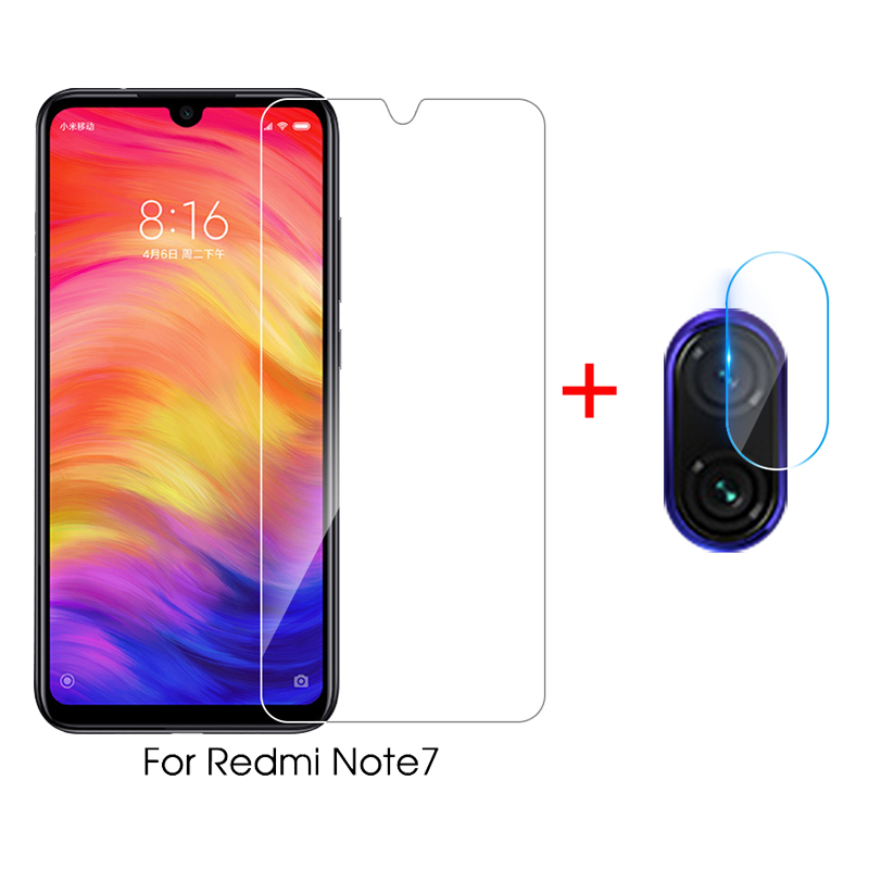 2 in 1 Protective Glass For Xiaomi Redmi 7 Note 7 Camera Screen Protector Safety Film Lens Tempered Glass On Redmi Note 7 Pro