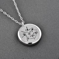 Ijp0180 Free Pads Top Women Delicate Colors Dandelion Perfume Essential Oil Diffuser Pendant Necklace