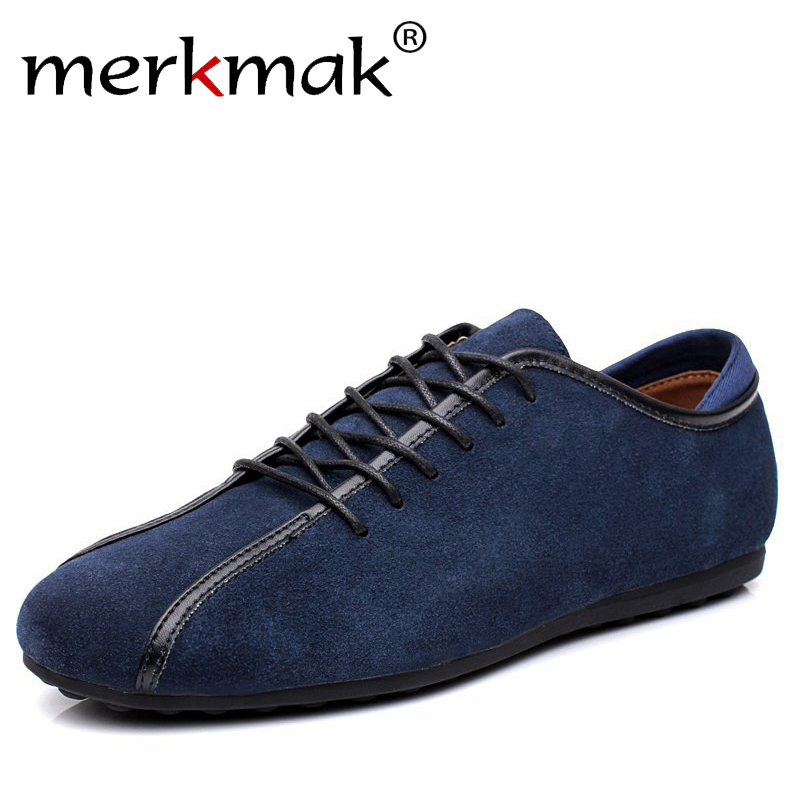 New 2018 Nubuck Leather Men's Casual Shoes Spring & Autumn Male Shoes Men Suede Genuine Leather Shoes Men Flats Zapatillas LS090 cbjsho brand men shoes 2017 new genuine leather moccasins comfortable men loafers luxury men s flats men casual shoes