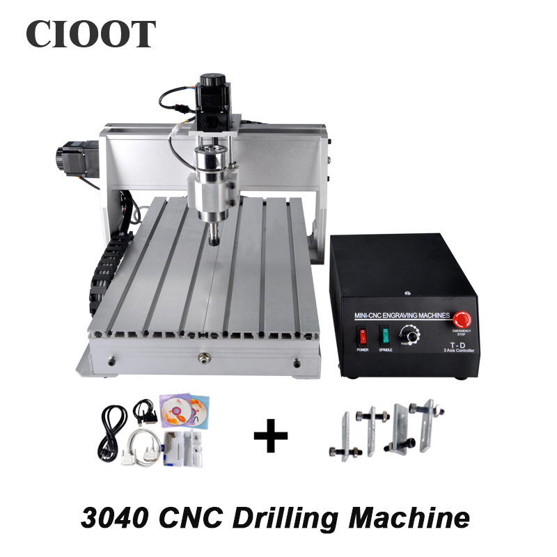 3040 3 Axis CNC Router Engraving Machine Ballscrew CNC Engraver Drilling Milling Machine With 300W Spindle cnc 3020 router engraver engraving drilling milling machine wood pmma plastic