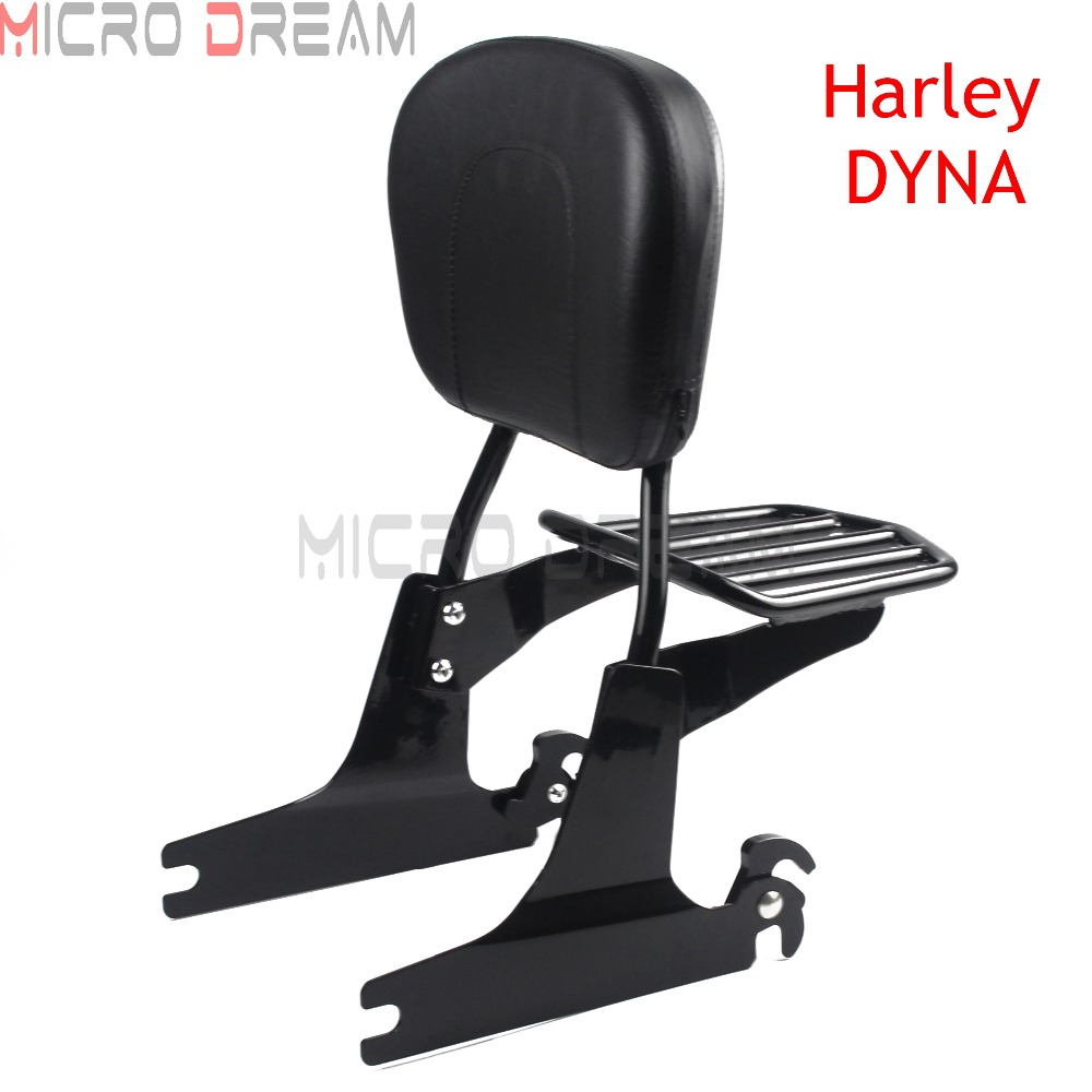 Detachable Passenger Backrest Sissy Motorcycle Luggage Rack For Harley Dyna 2006 Up Street Fat Bob Low