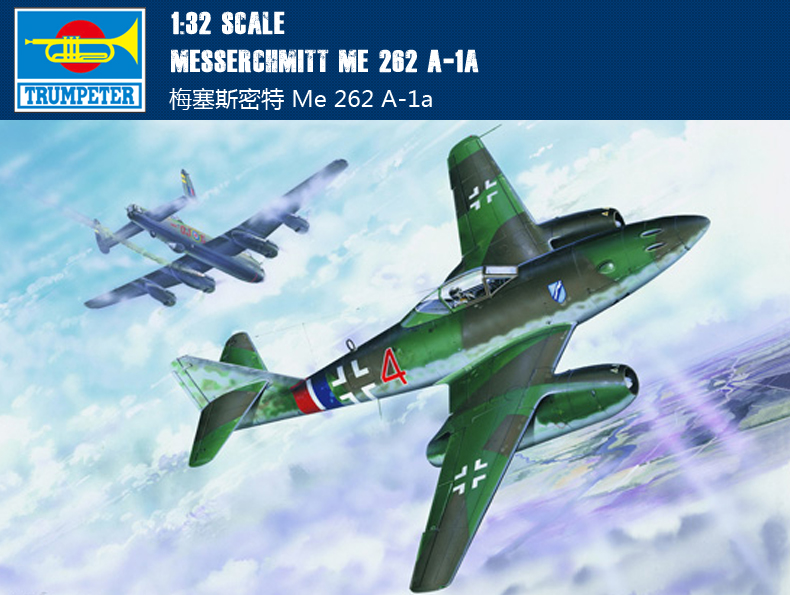 Trumpeter 02235 1 32 Messerchmitt Me 262 A 1a