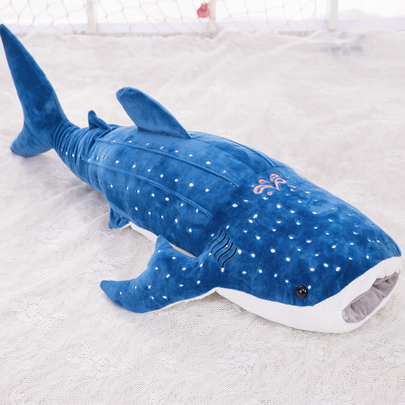 Moyen en peluche bleu requin jouet nouveau big mouth shark poupée cadeau d'anniversaire sur 100 cm s1995