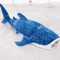 middle plush blue shark toy new big mouth shark doll birthday gift about 100cm s1995