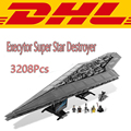 2017 3208 Unids Star Wars Execytor Super Star Destroyer Kits de Edificio Modelo Bloques Ladrillos Juguetes Para Niños Compatibles Con 10221