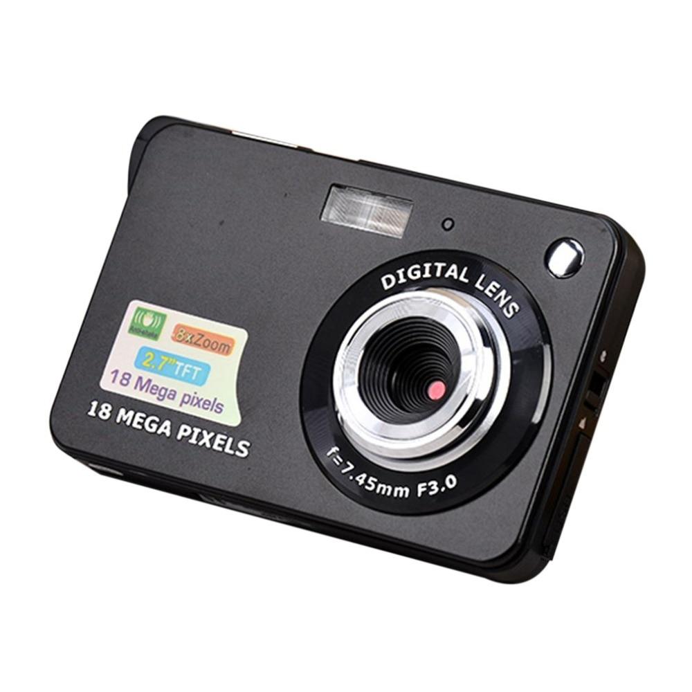 2.7 Display LCD TFT Polegada 18MP 720 P Câmera HD Zoom Digital 8x Anti-Shake Câmera de Vídeo CMOS Micro câmera de Presente Das Crianças