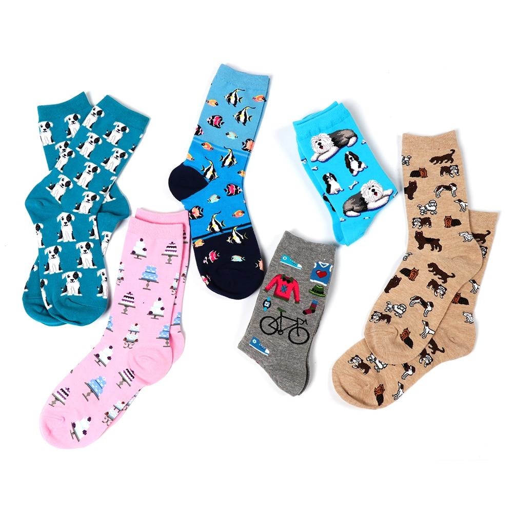 1Pair Creative Multicolor Women's Cotton Winter   Socks   Cartoon Animal   Socks   Unisex Harajuku Warm Breathable Casual Funny   Socks