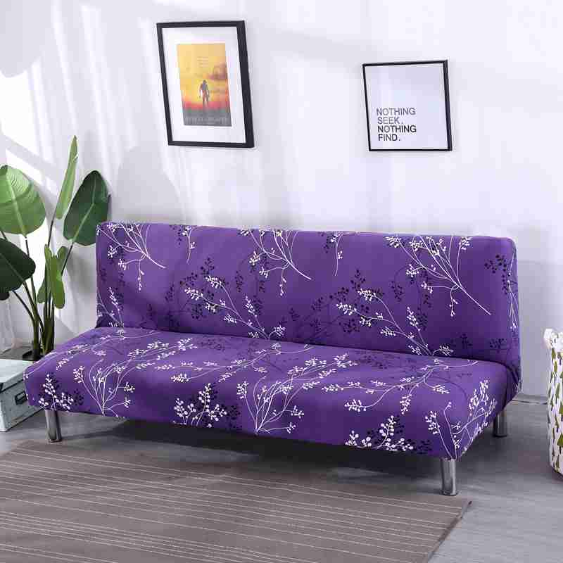 Plants Printed Without Arm Folding Sofa Bed Cover Elastic Stretch Couch Cover Length 160 to195cm Simple Install Recliner CoversPlants Printed Without Arm Folding Sofa Bed Cover Elastic Stretch Couch Cover Length 160 to195cm Simple Install Recliner Covers
