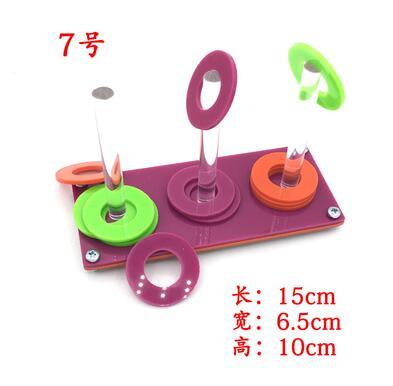 Игрушечное кольцо для птиц, обучающая интерактивная игрушка, принадлежности для головоломки, обучающее оборудование, реквизит, набор игрушек с попугаем - Цвет: 10