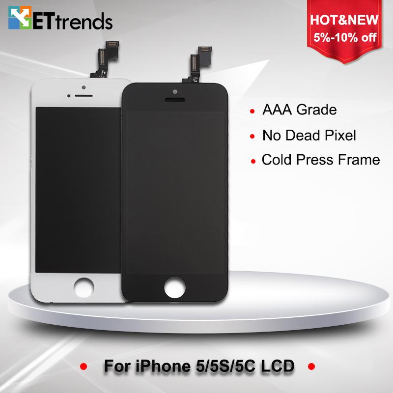 Prix pour 20 PCS/LOT AAA Aucun Spot LCD Écran Pour iphone 5/5s/5c écran lcd avec Écran Tactile Digitizer Assemblée Livraison Gratuite par DHL