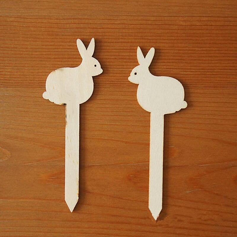12 шт. кролик Форма знак дерева 12.7 см Незаконченные вырезы DIY Пасхальный кролик милые животные Книги по искусству живописи орнамент домашний ... ...
