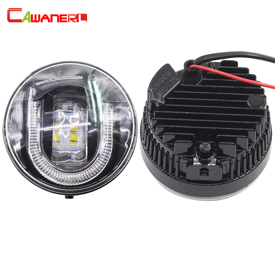 Cawanerl Car Accessories LED Fog Light DRL Daytime Running Lamp High Power 2 Pieces For Infiniti M37 M56 M35H FX 30d 37 50 leadtops car led lens fog light eye refit fish fog lamp hawk eagle eye daytime running lights 12v automobile for audi ae