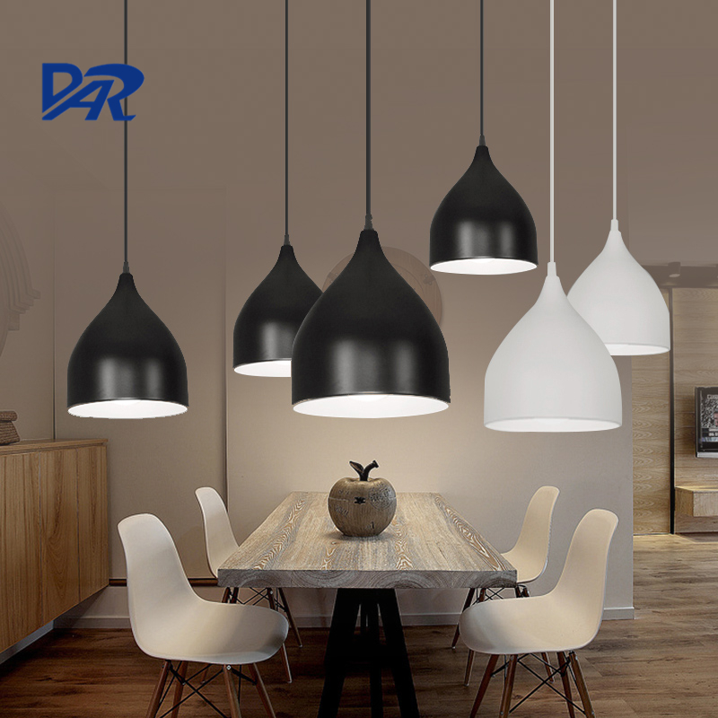 Creative DIY Black/White/Wine Red Lampshade Dining Lamp 1/3 Heads Led Pendant Lights For Restaurant Cafe Suspension Luminaire гарнитура creative ma 200 red black