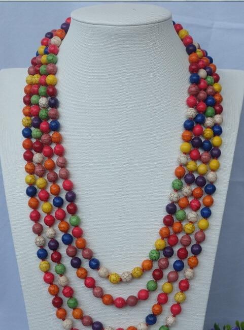 Beautiful 100 Multi color Vogue round necklace