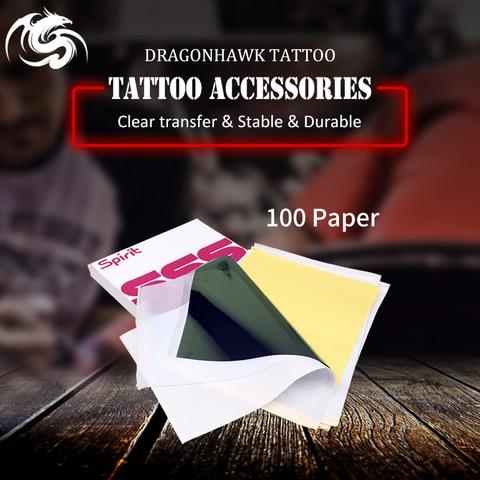tatuagem estencil transferencia carbono papel parte superior 100 pces a4 tamanho tatuagem fornecimento ws011