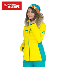 RUNNING RIVER Brand Winter Thermal Women Ski Down Jacket 5 Colors 5 Sizes High Quality Warm Woman Outdoor Sports Jackets #A6012