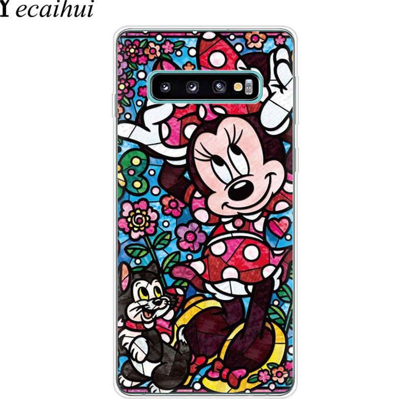 Cuento de hadas de vidrio Alice Mickey Lilo de la caja del teléfono duro para Samsung Galaxy S10 5g E S10E S8 S9 más S6 S7 borde cubierta Coque