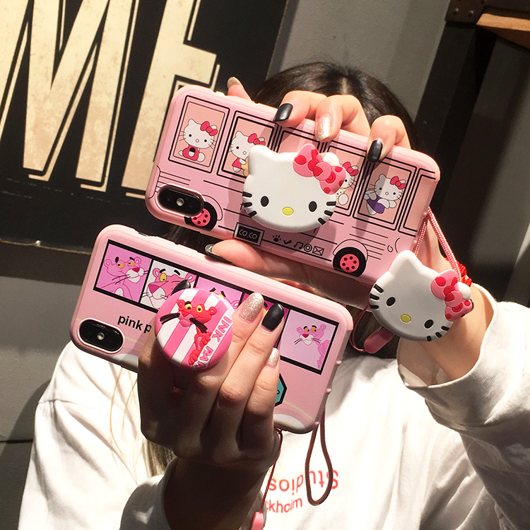 For Samsung Note 8 9 phone case for Galaxy S8 Hello Kitty shell for S6 s7edge