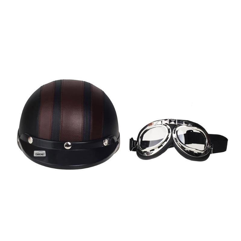 Motorcycle ABS Helmet + Detachable Visor + Goggles Safety