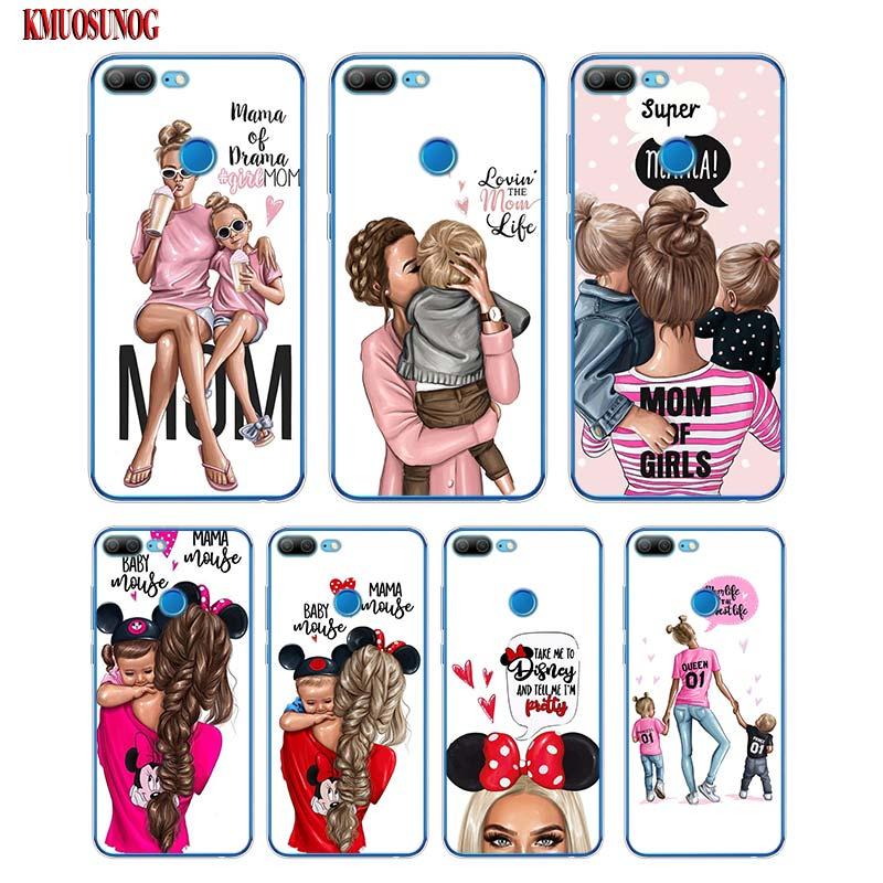 100% Wahr Weiche Silikon Telefon Fall Baby Hot Mom Mädchen Druck Für Huawei Ehre 7a 7c 8 8a Pro 8c 8x9 9n 10 V20 V9 Lite Abdeckung