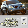 Car-Styling Free Shipping!! #35 10x White LED Lights Interior Lamp Bulb Package Kit For Car Jeep Grand Cherokee 2005-2013