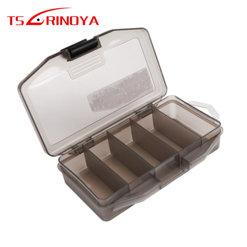 TSURINOYA 13.6*6.5*3cm 5 Compartments Portable Fishing Lure Box Frosted Material Artificial For Fishing Lure Bait Soft Lure Box title=