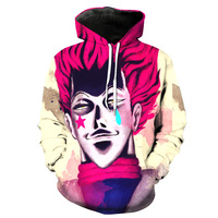 Hunter X Hunter Hisoka Death Pocket Pullover Hoody Men Women Hip Hop Print 3D Sweatshirt Character
