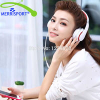 MERRISPORT Over Ear Stereo Headphones Adjustable Heavy Deep Bass For IPhone MP3 4 Players SmartPhones Computer