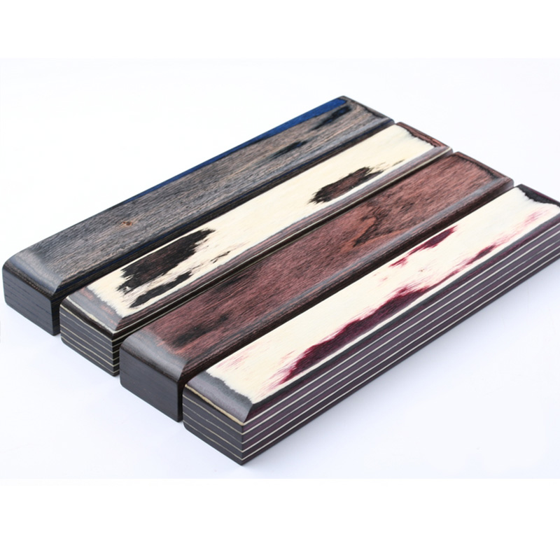4 colors DIY Knife Handles Making material wood blanks Color wood Handle Parts Grips 150x40x30mm цена