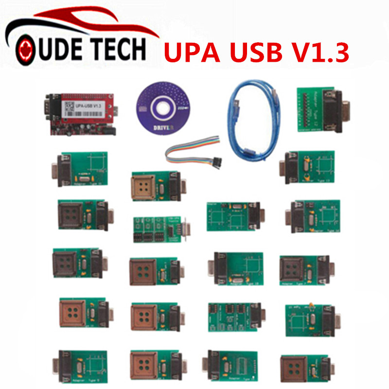 Top Rated full Adaptors UPA USB ECU Chip Tuning Scanner UPA-USB Interface V1.3 Serial Programmer ECU Chip Tuning