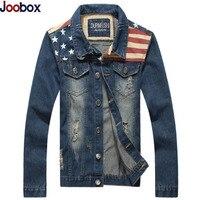 2017 Casual Denim Jacket Men USA Design Hole Mens Jeans Jackets Hip Hop Turn Down Collar