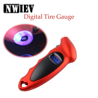 NWIEV 1X Car tire pressure gauge Portable digital display monitor For Acura Chevrolet Cruze Aveo Peugeot 307 308 Seat Leon Mazda