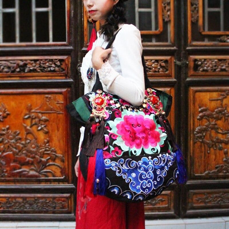 Najnovije vezenje platno žene torbe Etničke ručne tassel lagre - Torbe - Foto 3