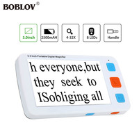 BOBLOV YS011 5.0 inch LCD 4 32X Video Digital Flexible Magnifier Electronic Reading Aid Portable with 8 LEDs light adjustable