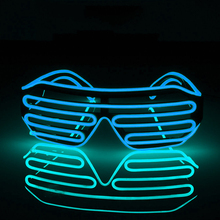 Hot  Party supplies luminous glasses Halloween props blinds cool EL voice-activated