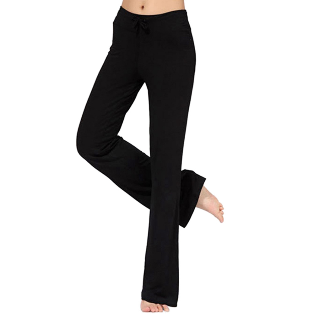 Plus Size Wide Leg Fitness Sport Pants Women Loose Yoga Pants High Waist Running Yoga Pants Women Sport Leggings Fitness Trouser striped self tie wide leg pants