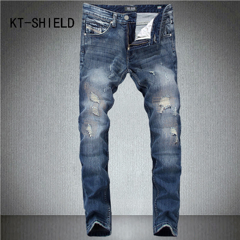 Skinny jeans men fashion brand Ripped cargo casual hip hop full length Denim trousers biker Slim fit big size vaqueros hombre 2017 skinny jeans men white ripped jeans for men fashion casual slim fit biker jeans hip hop denim pants motorcycle c141