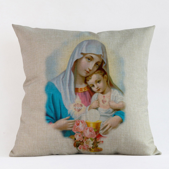 Pillow with Religious Images