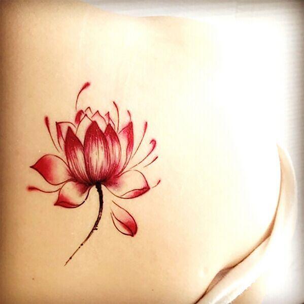 3pcs Colorful Hc115 Lotus Flower Tattoos Pattern Taty New Design