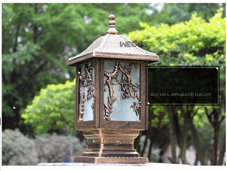 pilar lâmpada e27 cerca parque luminária villa