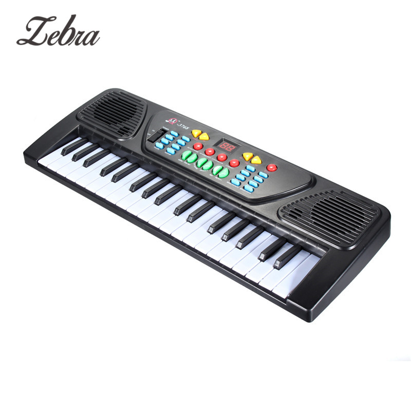zebra 37 keys kid organ electric piano digital music electronic keyboard instrument with mini. Black Bedroom Furniture Sets. Home Design Ideas