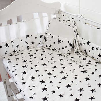 Multi Color & Sizes 5pcs Baby Bedding Set Breathable Thicken Crib Protect Bumpers Nordic Style Baby Bed Linens Kit Bumpers Sheet - DISCOUNT ITEM  30% OFF All Category